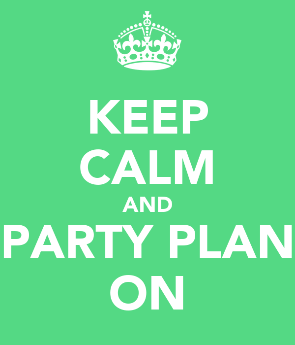 Itty Bitty Party Committee will keep calm and party plan on!