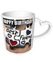 Happy Birthday Heart Handle Mug