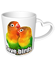 Love Birds Heart Mug