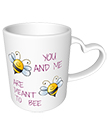 You and Me Heart Handle Mug